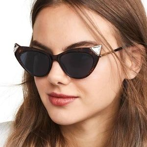 Fendi Ff0356 - 086ku Flat Front Cat Eye Sunglasses